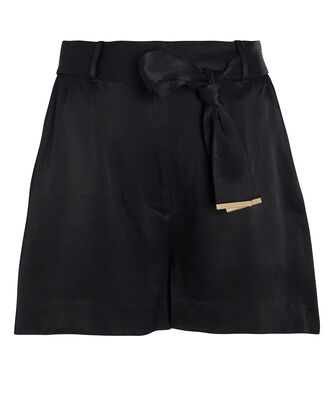 Max Satin Shorts, BLACK, hi-res