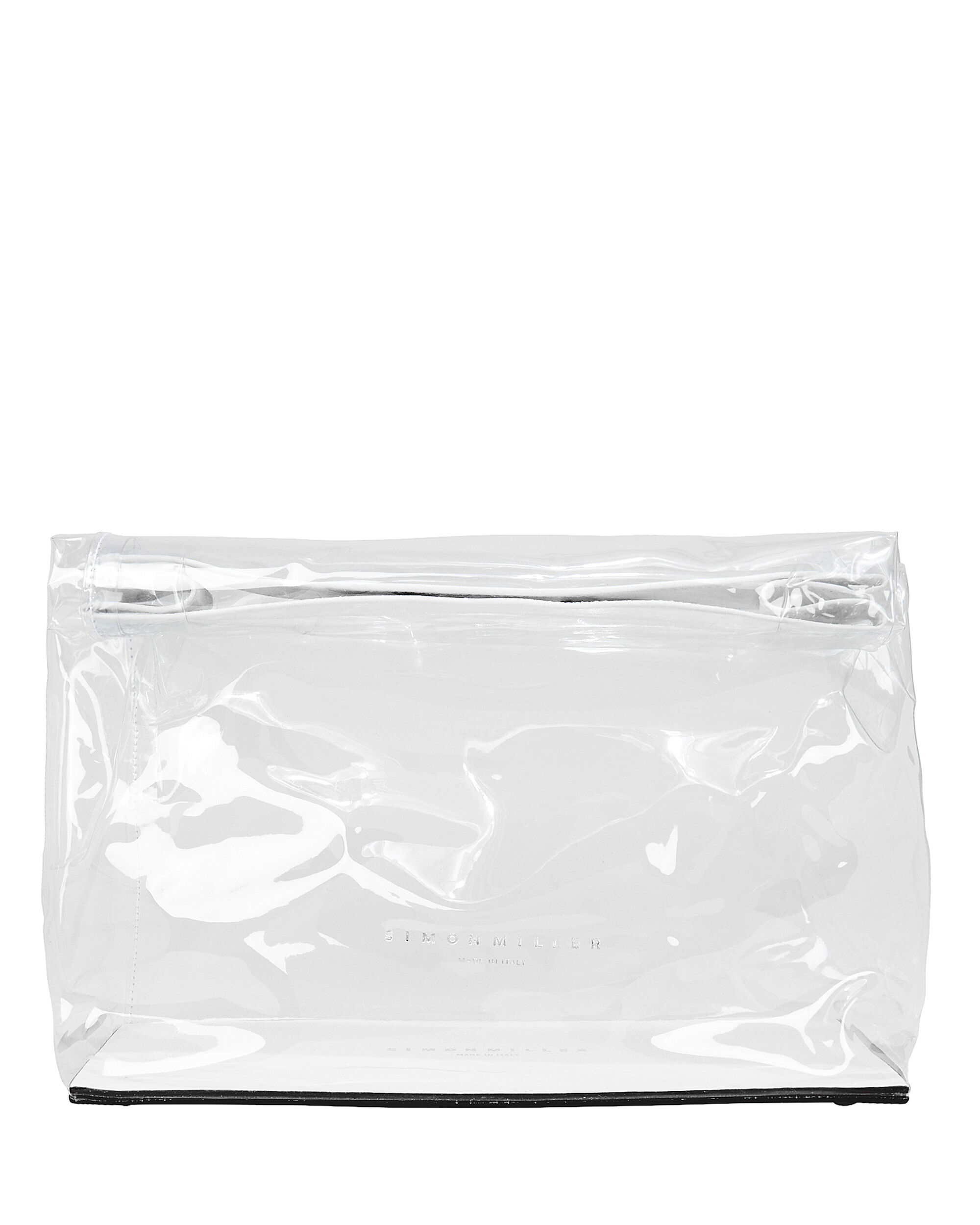 Clear Plastic Lunchbag, CLEAR, hi-res