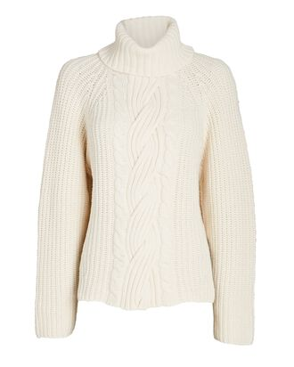 Hadley Cut-Out Cable Knit Sweater, WHITE, hi-res