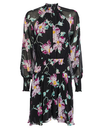 Hollis Floral Silk Dress, MULTI, hi-res