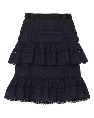 Hazel Ruffle Mini Skirt, NAVY, hi-res