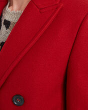 Melton Wool Double Breasted Coat, RED, hi-res