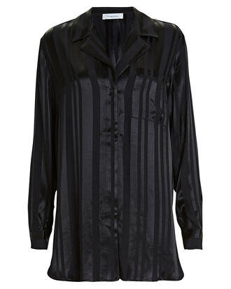 Ash Striped Oversized Shirt, BLACK/STRIPE, hi-res