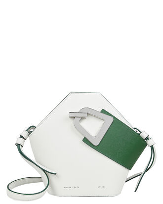 Mini Johnny White Clutch, WHITE, hi-res