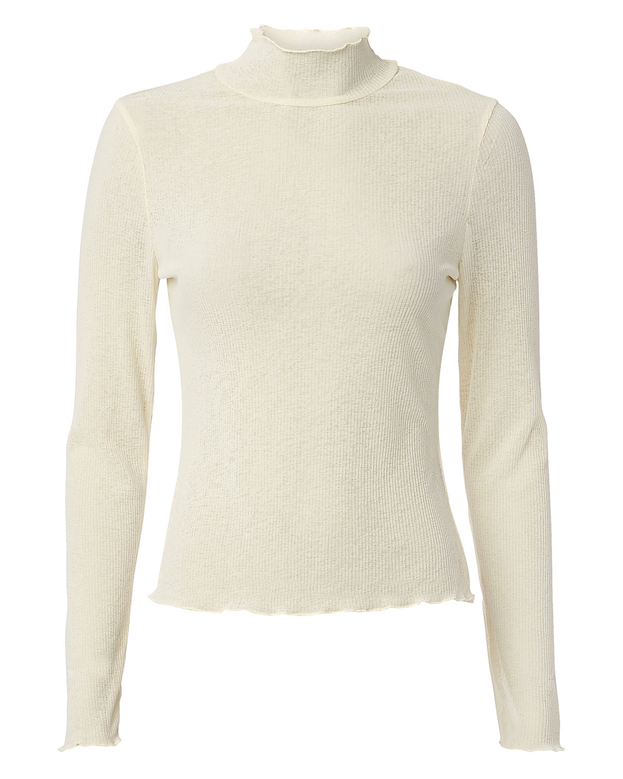 THE EAST ORDER THE EAT ORDER ELFIE KNIT TOP IVORY