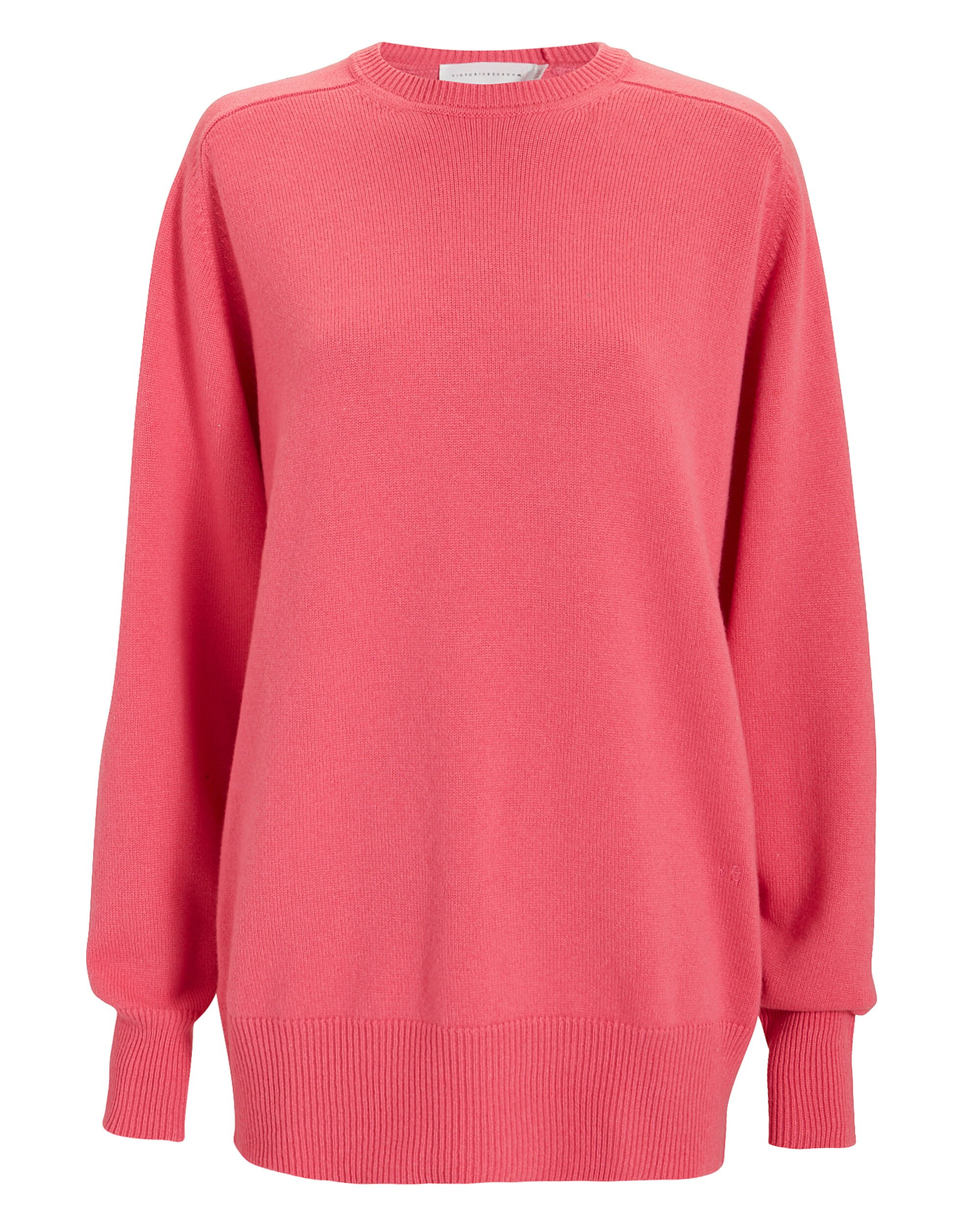 Pink Cashmere Sweater, PINK, hi-res