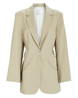 Floating Loophole Tie Blazer, BEIGE, hi-res