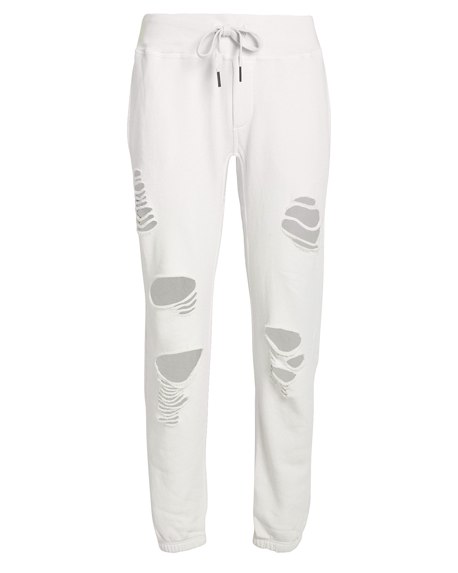 Sayde Distressed French Terry Sweatpants, IVORY, hi-res