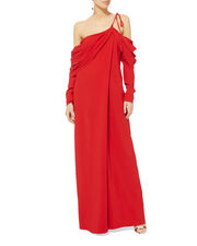 Cowl Sleeve Red Gown, RED, hi-res