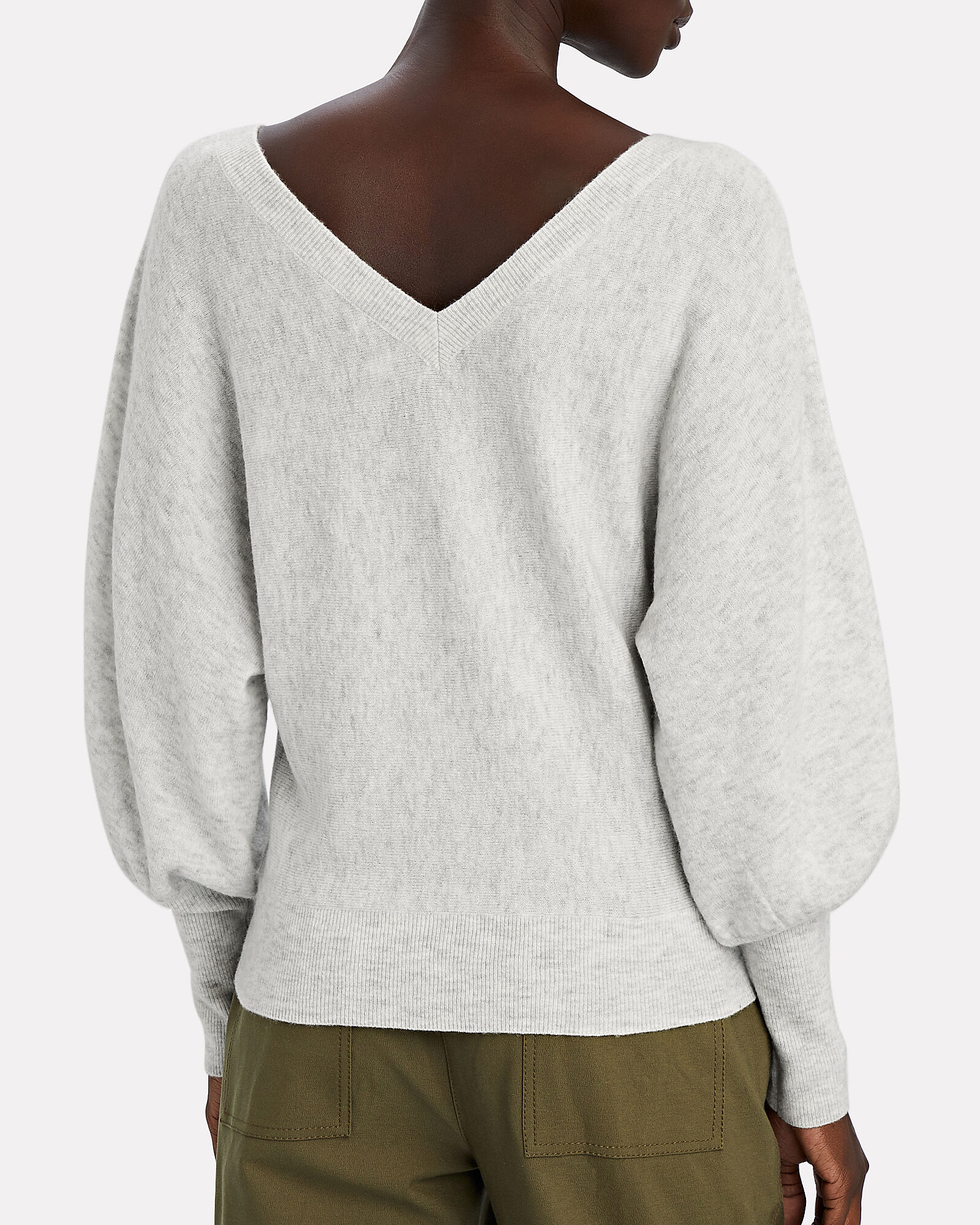 Marion Wool-Cashmere Sweater, LIGHT GREY, hi-res