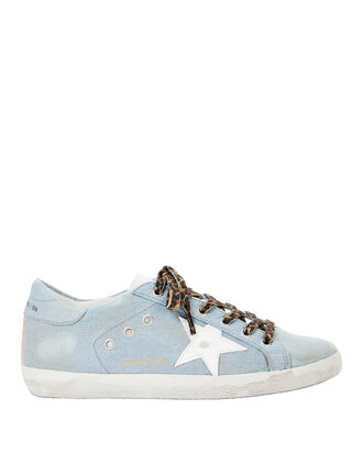 Superstar Blue Denim Low-Top Sneakers, DENIM, hi-res