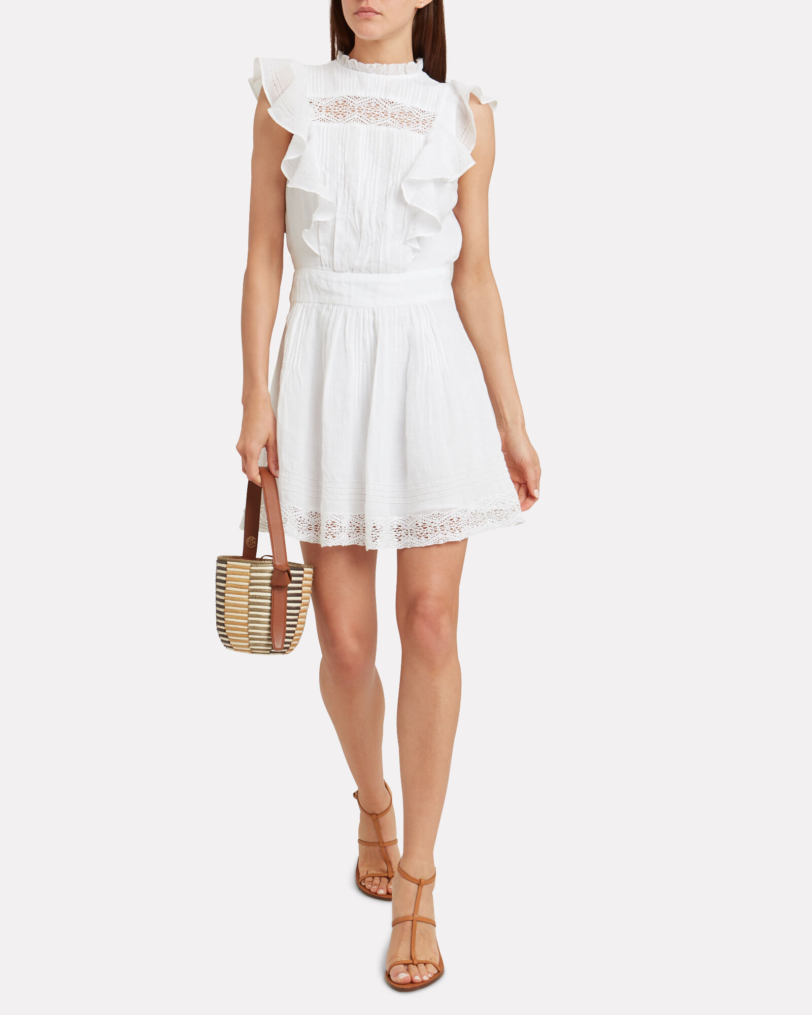 Lace Pintuck Dress Intermix