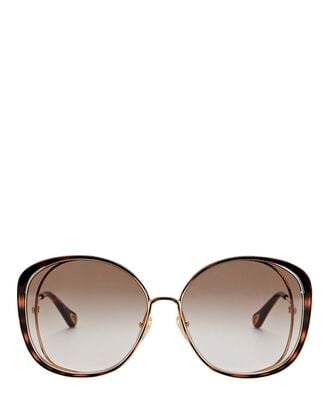 Oversized Soft Cat Eye Sunglasses, BROWN, hi-res