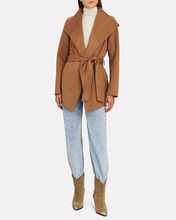 Azara Wool-Blend Wrap Jacket, BEIGE, hi-res