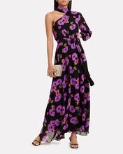 Isabeau One Shoulder Hibiscus Gown, MULTI, hi-res