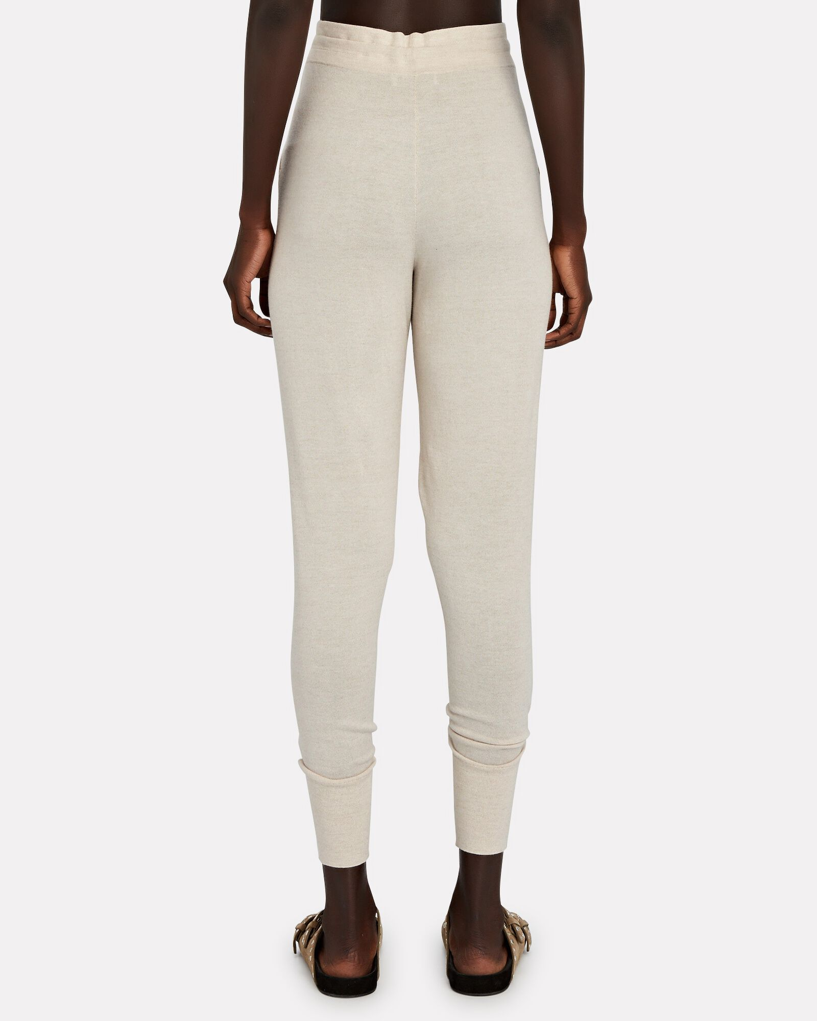 Emery Cotton-Silk Knit Joggers, BEIGE, hi-res