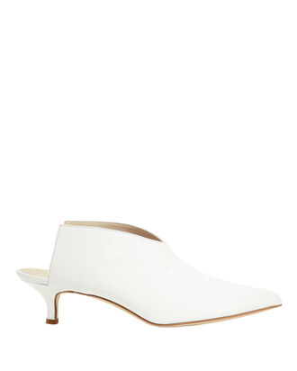 Jase Patent Leather Mules, WHITE, hi-res