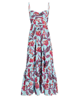 Emilia Printed Midi Dress, MULTI, hi-res