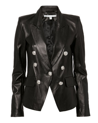 Cooke Leather Jacket, BLACK, hi-res
