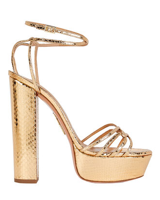 First Kiss 140 Plateau Sandals, GOLD, hi-res