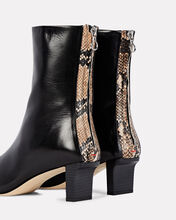Molly Leather Ankle Booties, BLACK/BEIGE, hi-res