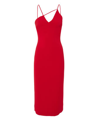 Karina Red Pencil Dress, RED, hi-res