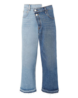 Split Wash Cropped Jeans, DENIM-MED, hi-res