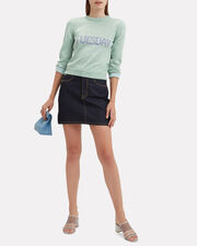 Tuesday Mint Green Lurex Sweater, MINT GREEN, hi-res
