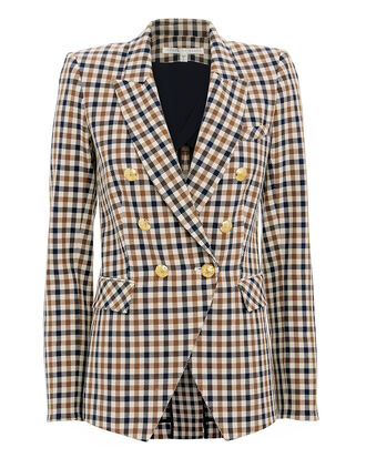 Lonny Check Blazer, BROWN, hi-res