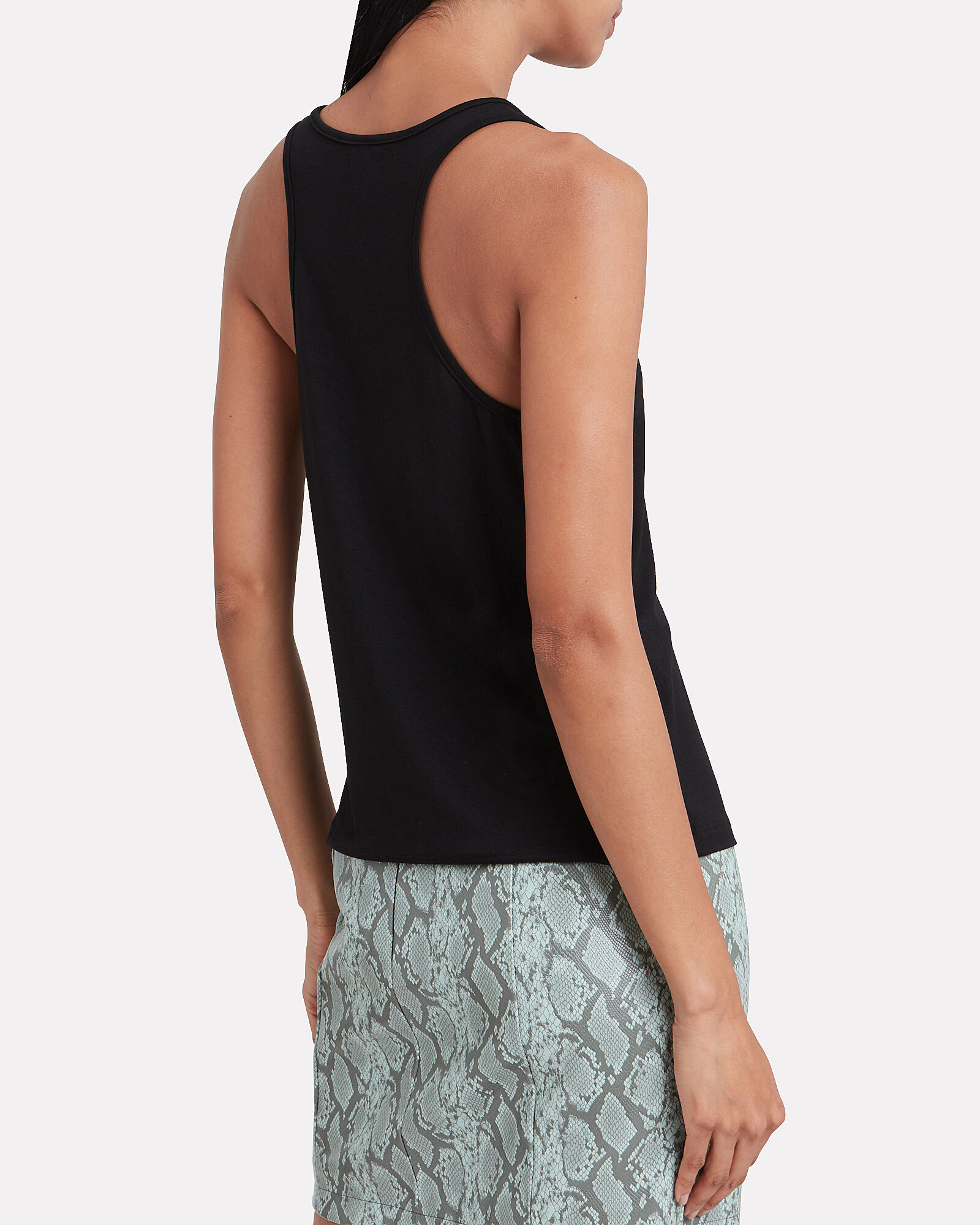 Drew Racerback Tank Top, BLACK, hi-res