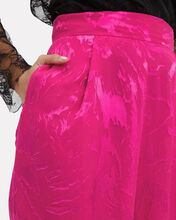 Jacquard Velvet High Rise Trousers, PINK, hi-res