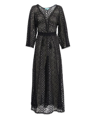 Nina Crochet Lace Kaftan, BLACK, hi-res