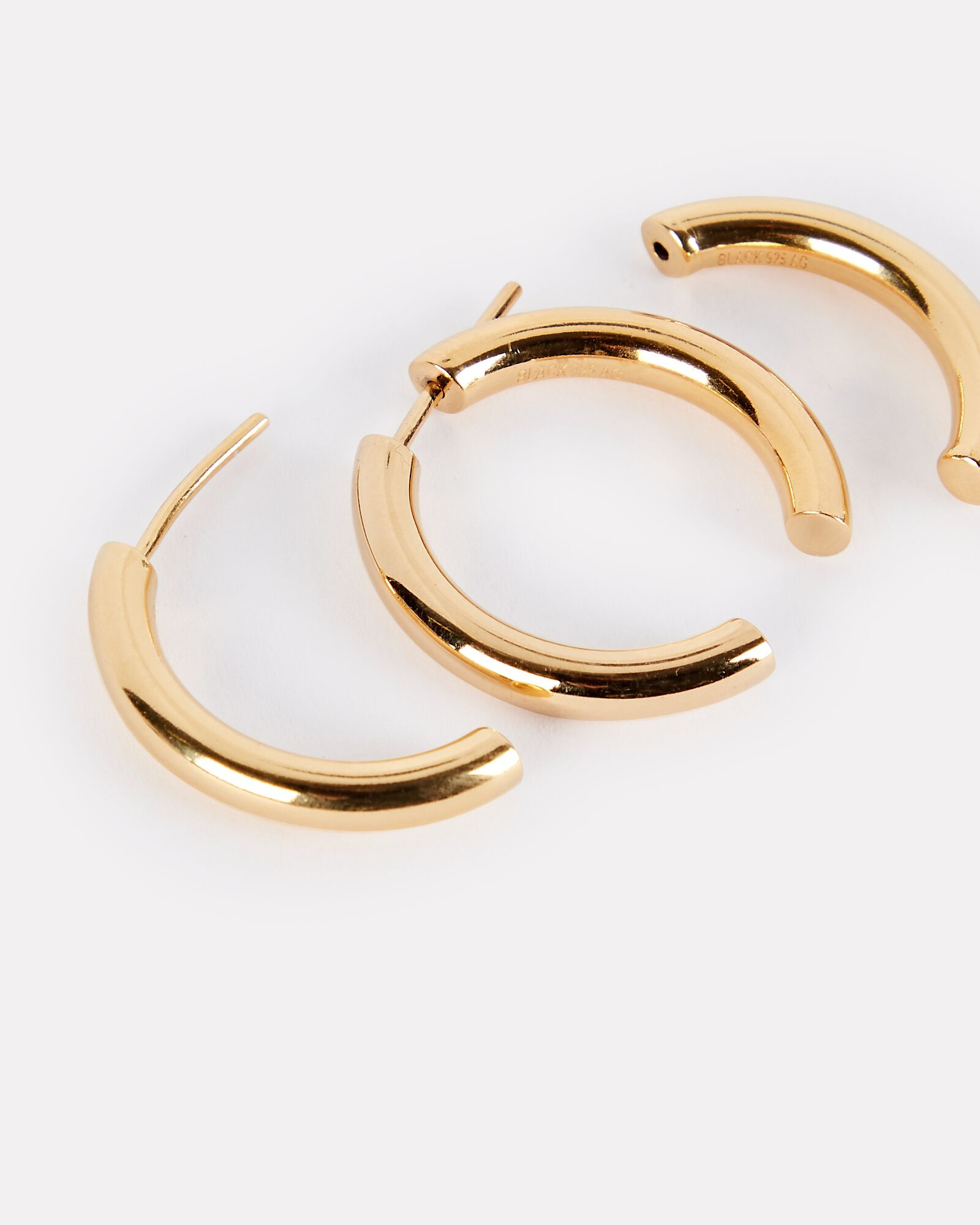 Broken 25 Split Hoop Earrings, GOLD, hi-res