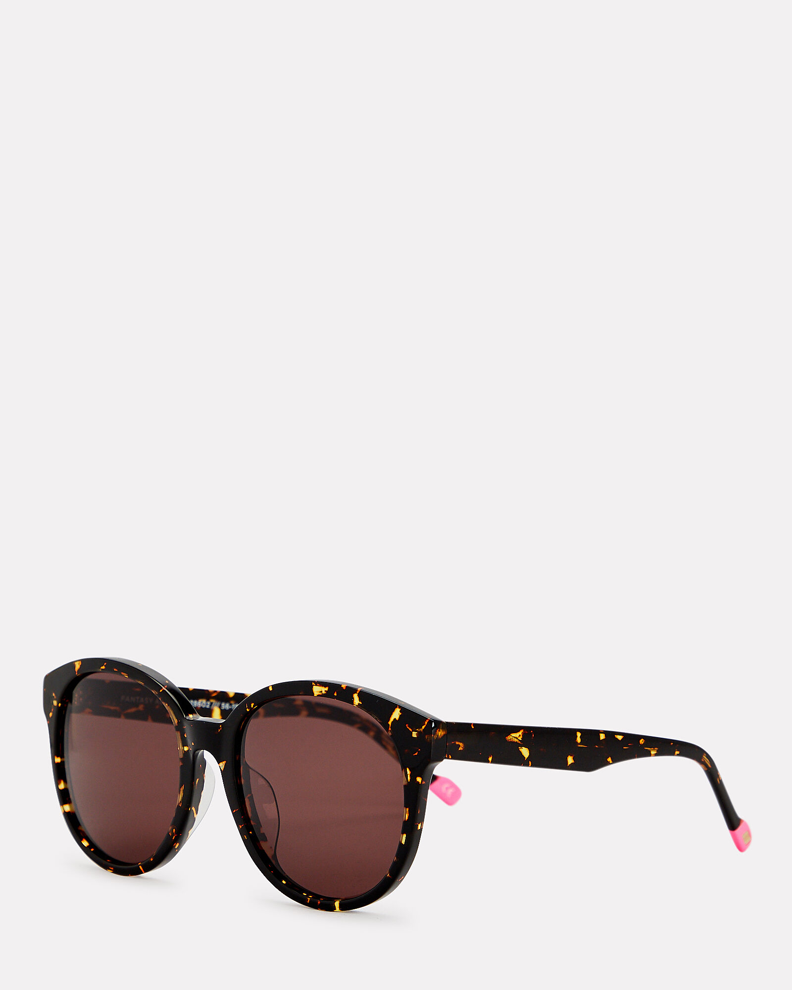 Fantasy Spotted Round Sunglasses, BROWN, hi-res