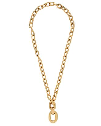 XL Link Pendant Chain Necklace, GOLD, hi-res