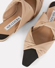 Mondaine Twisted Leather Flat Slides, BEIGE, hi-res