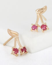 Ruby Cherry Bomb Studs, RED-MED, hi-res