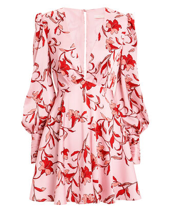 Waltzing Mini Dress, PINK/RED FLORAL, hi-res