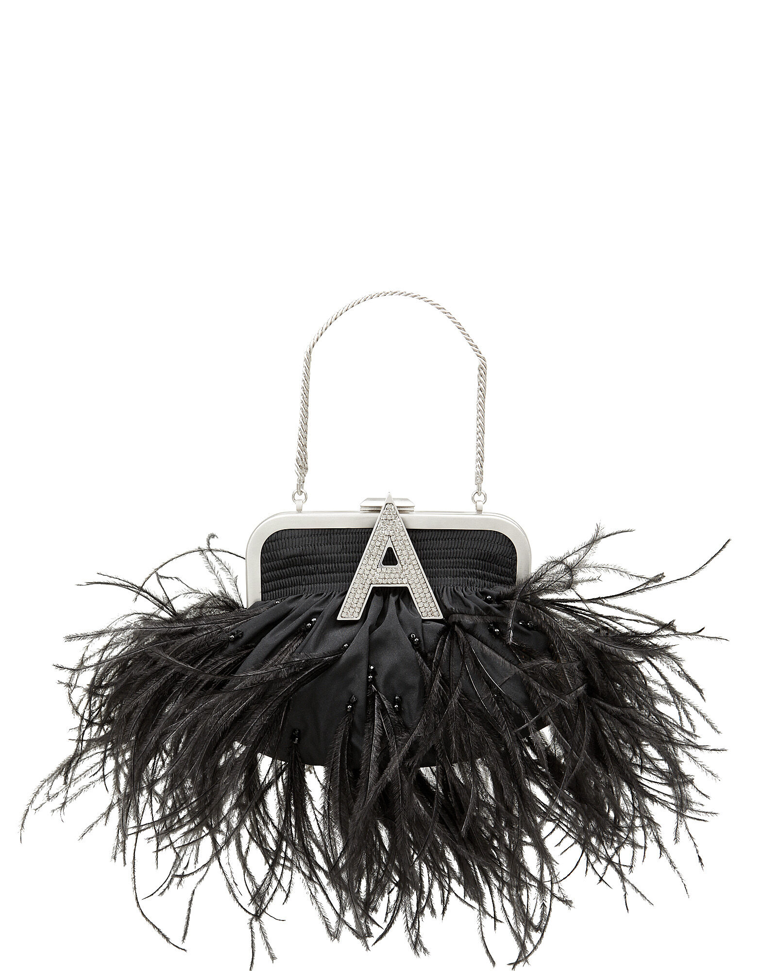 Mini Doctor Feather Coin Purse, BLACK, hi-res