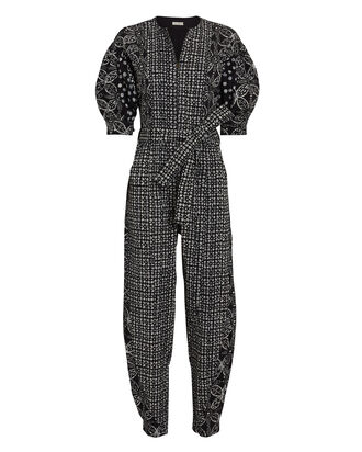 Sabra Batik Denim Jumpsuit, , hi-res
