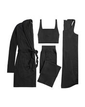 4-Piece Travel Lounge Set, BLACK, hi-res