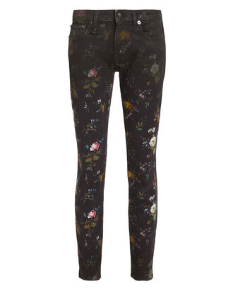 Kate Floral Skinny Jeans, FLORAL/DARK DENIM, hi-res