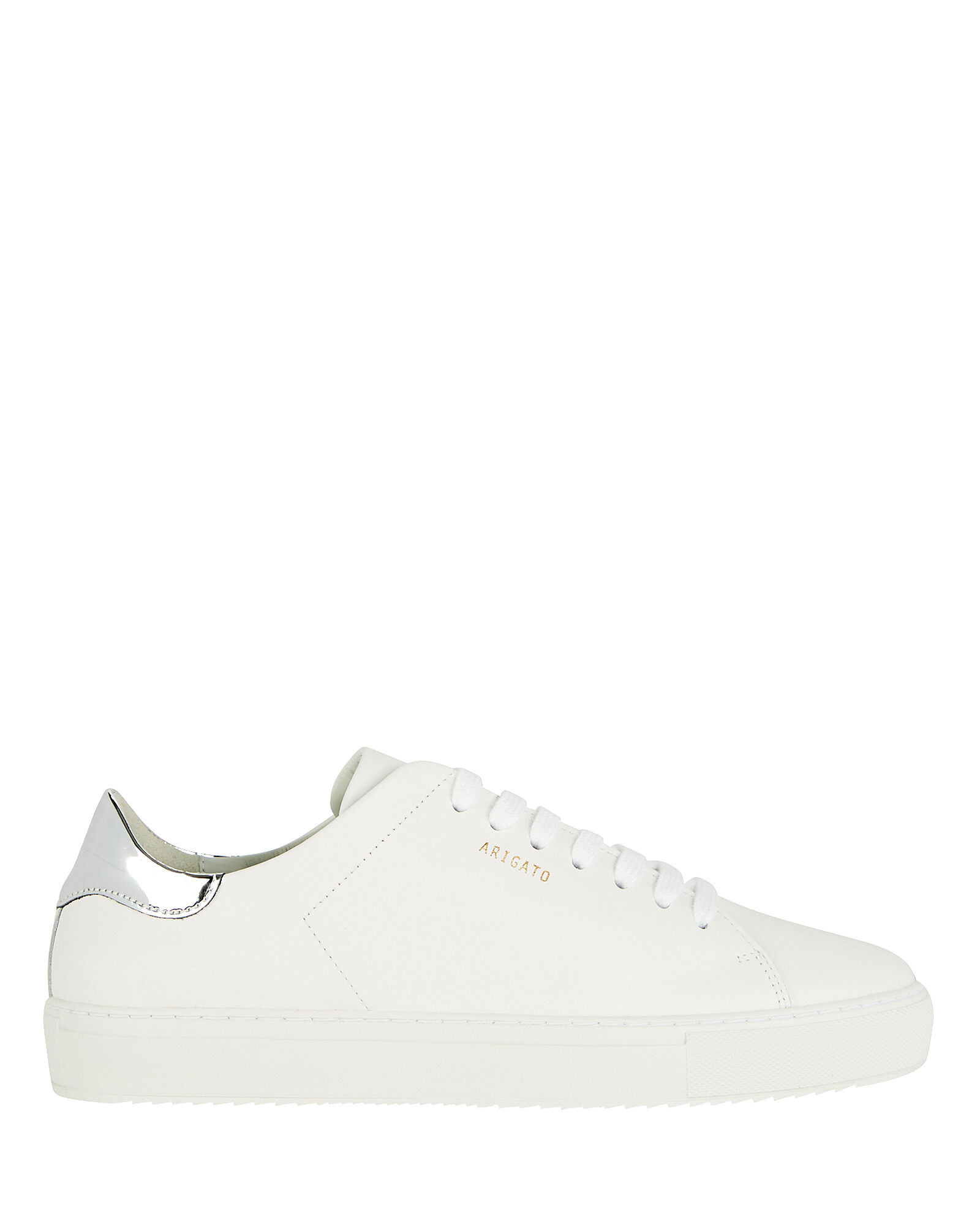 Clean 90 Leather Sneakers, WHITE/SILVER, hi-res