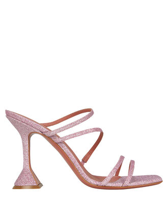 Naima Glitter Leather Sandals, LILAC, hi-res