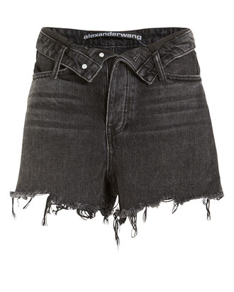 Bite Flip Denim Shorts, BLACK, hi-res