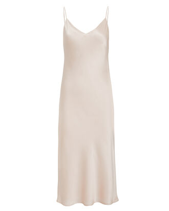 Jodie Silk Slip Dress, CHAMPAGNE, hi-res