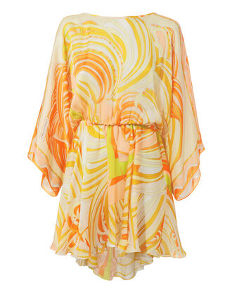 Tie-Back Coverup Dress, ORANGE, hi-res