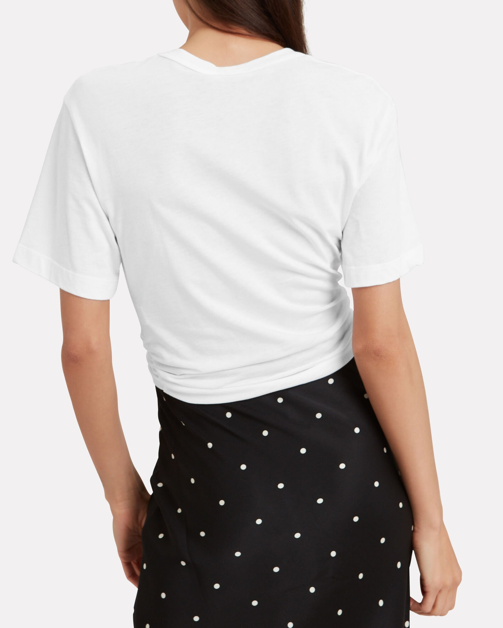 Gemma Tie T-Shirt, WHITE, hi-res