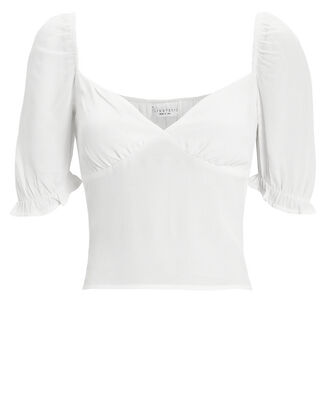 Wilson Short Sleeve Blouse, WHITE, hi-res