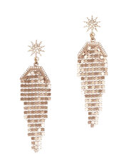 Claude Earrings, METALLIC, hi-res